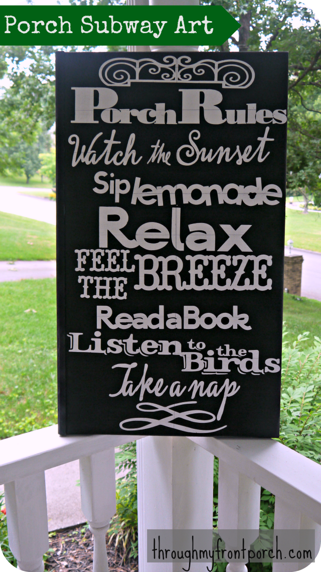 Porch Rules Sign Tutorial Through My Front Porch