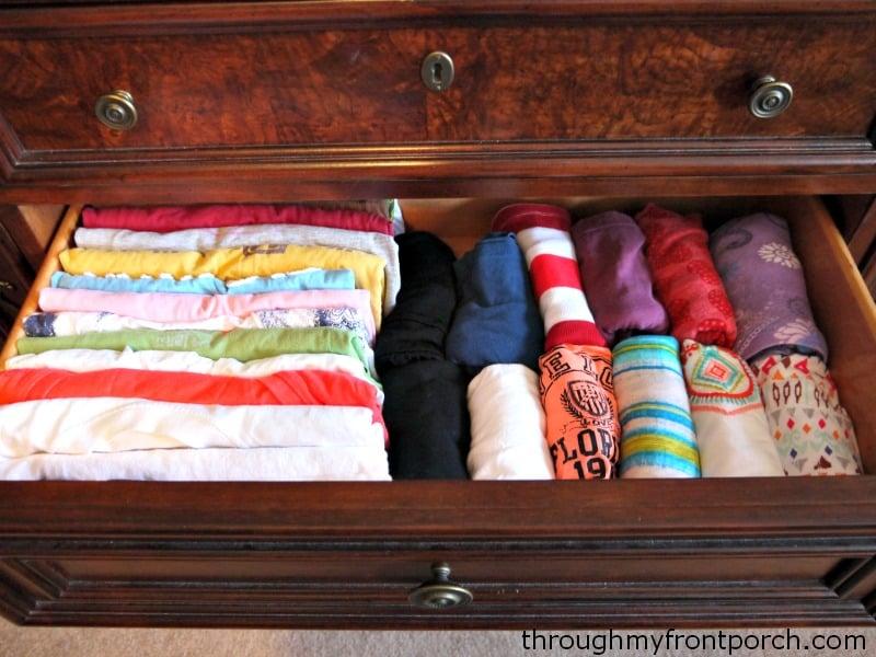 Neat t shirt drawer