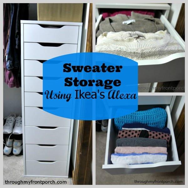 Sweater Storage Using Ikea S Alexa Tower Through My