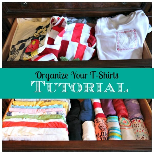Organize your t shirts tutorial through my front porch for T shirt drawer organization