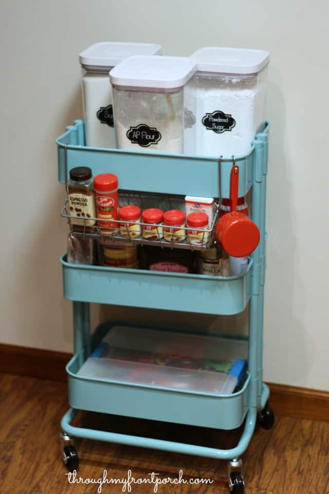 kitchen storage items create a baking cart through my front porch 3157