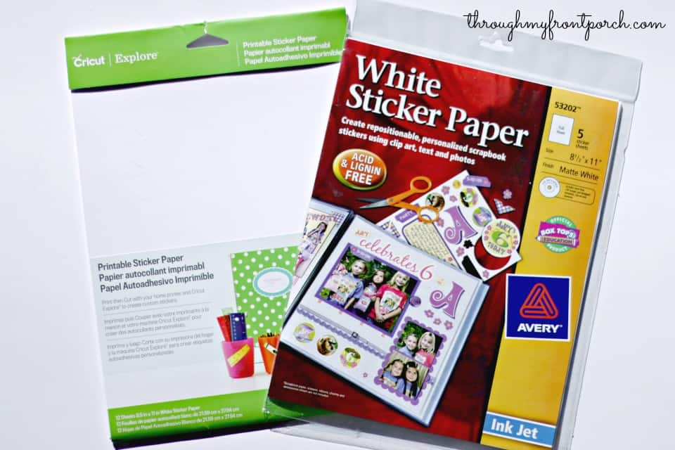 how to make planner stickers with cricut explore
